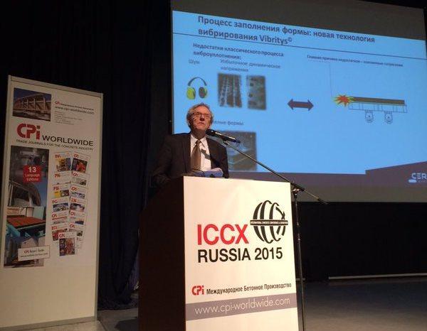 Conference ICCX Russia - Intervention de Marc Lebrun : innovation et matériau béton