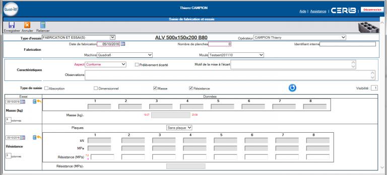 Qual-IB - Logiciel des Registres informatisés de l'Industrie du Béton