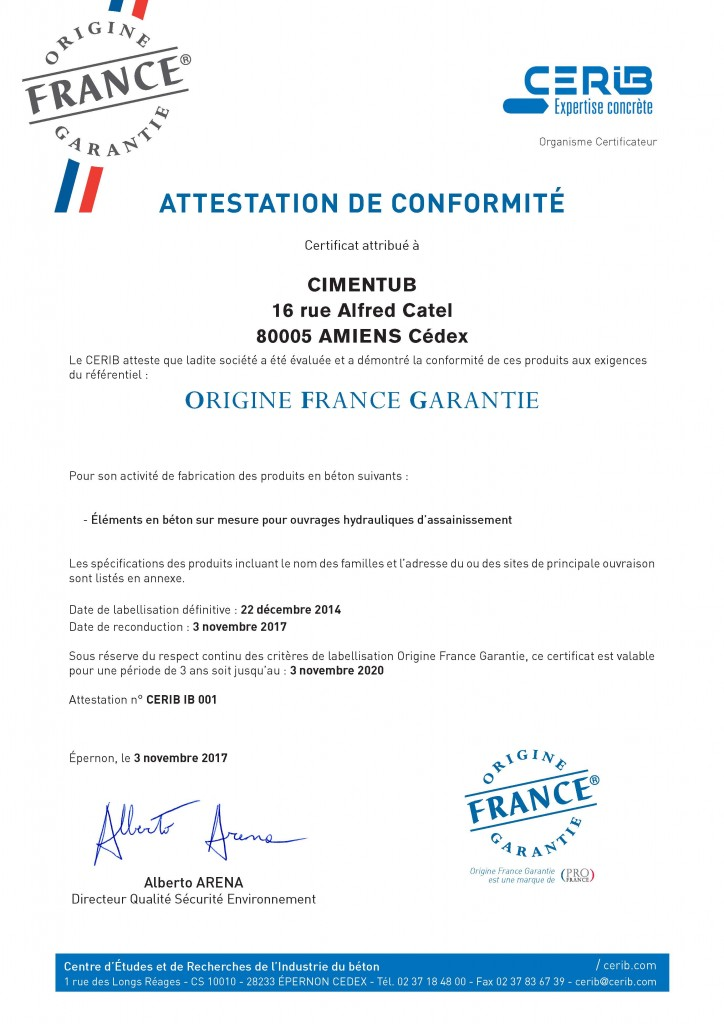 certificat-cerib-ofg-cimentub