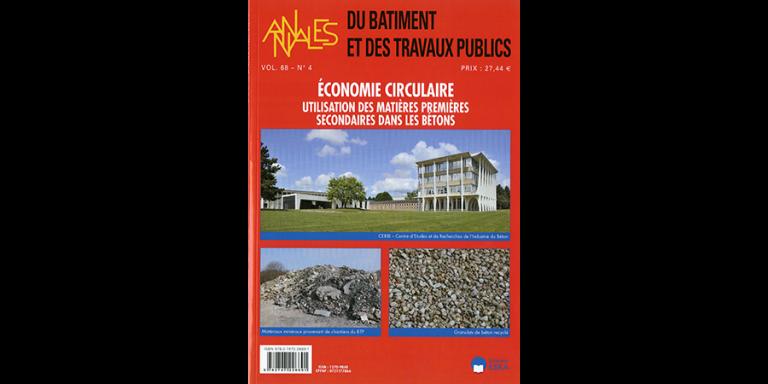 Numéro spécial des Annales du BTP - Etude du Cerib sur l'économie circulaire