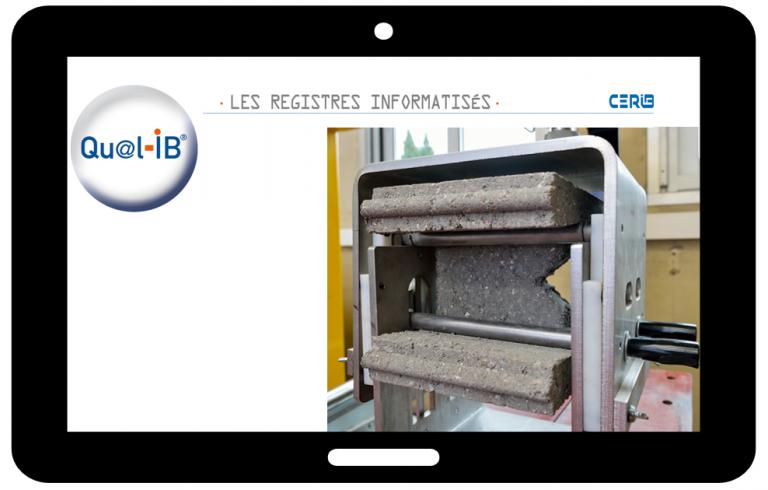 Registre de contrôle Blocs de coffrage dans le logiciel Qual-IB