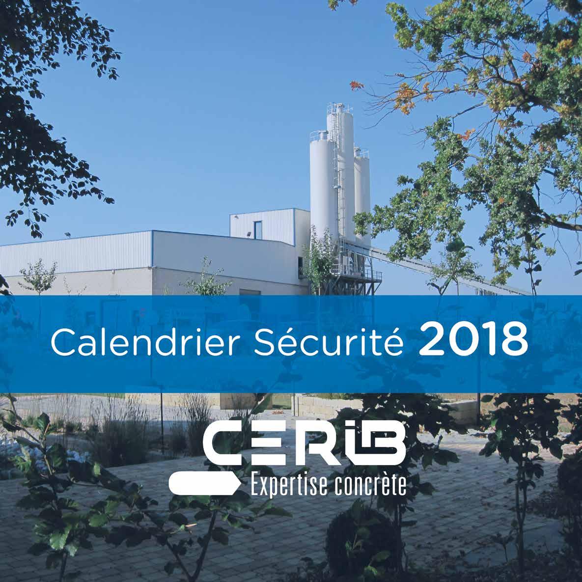 Calendrier Sécurité Cerib 2018