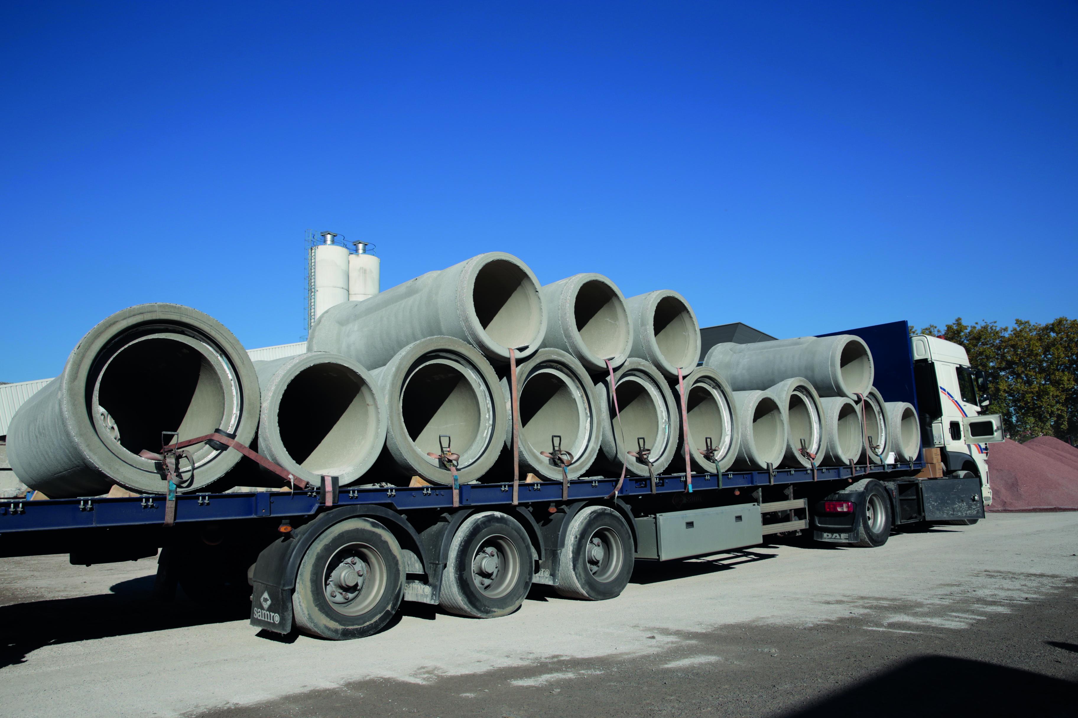 Transport de produits en béton